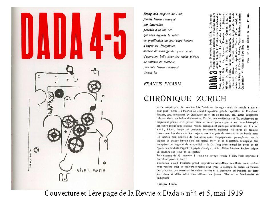 Couverture et 1ère page de la Revue « Dada » n°4 et 5, mai 1919