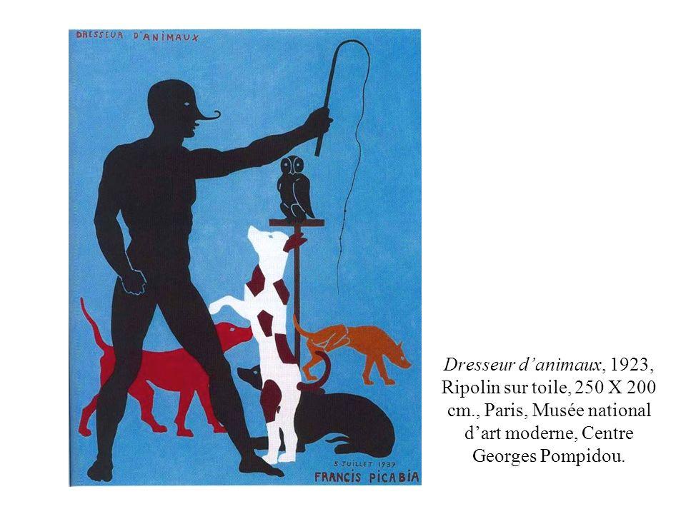 Dresseur danimaux, 1923, Ripolin sur toile, 250 X 200 cm., Paris, Musée national dart moderne, Centre Georges Pompidou.