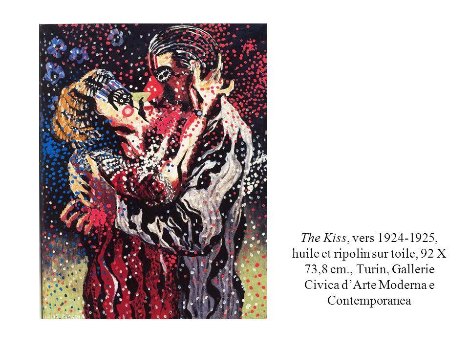The Kiss, vers 1924-1925, huile et ripolin sur toile, 92 X 73,8 cm., Turin, Gallerie Civica dArte Moderna e Contemporanea