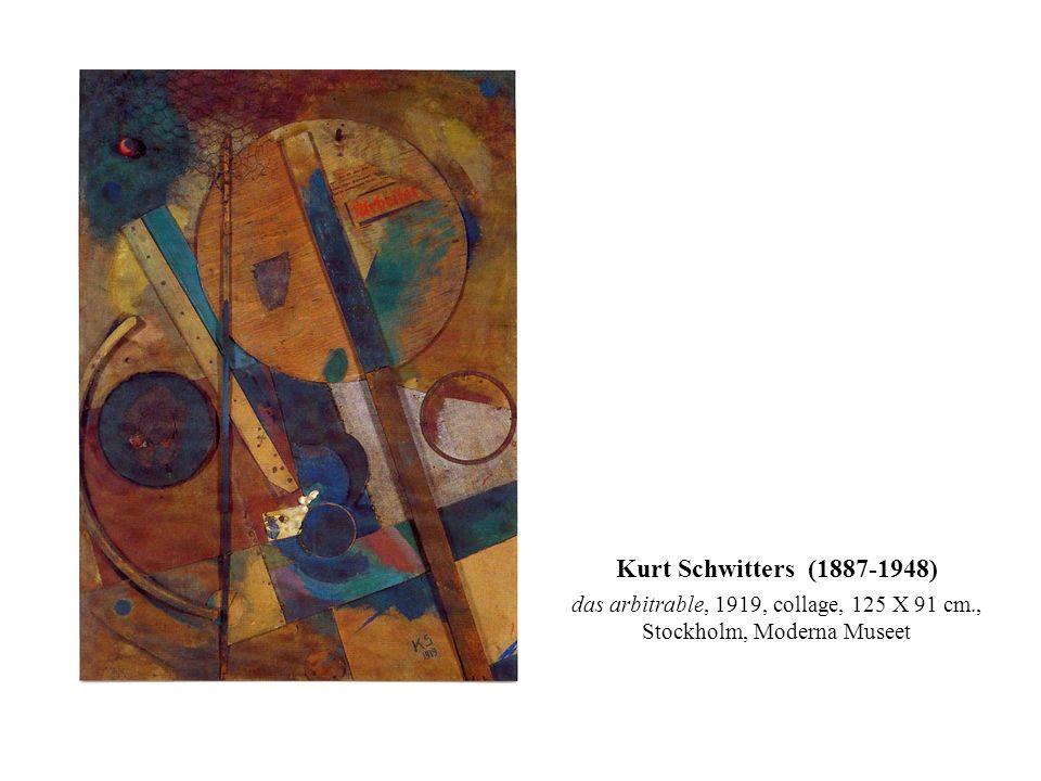 Kurt Schwitters (1887-1948) das arbitrable, 1919, collage, 125 X 91 cm., Stockholm, Moderna Museet