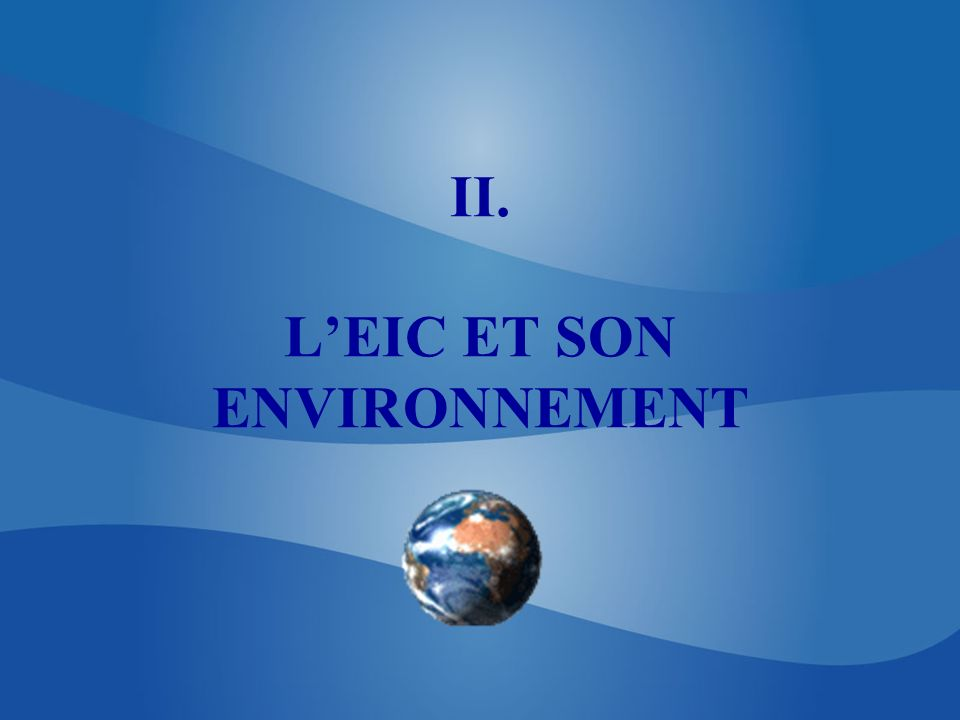 II. LEIC ET SON ENVIRONNEMENT