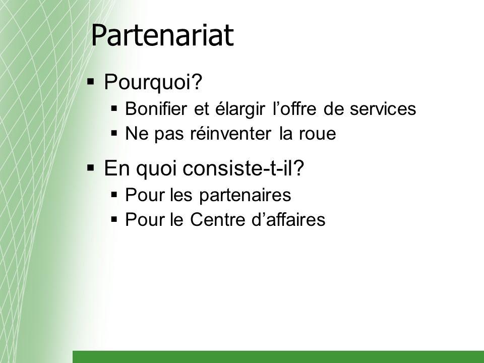 Partenariat Pourquoi.