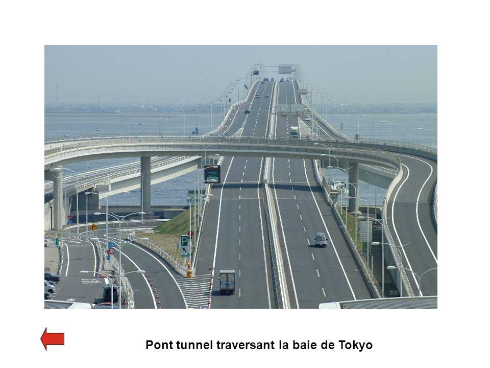 Pont tunnel traversant la baie de Tokyo