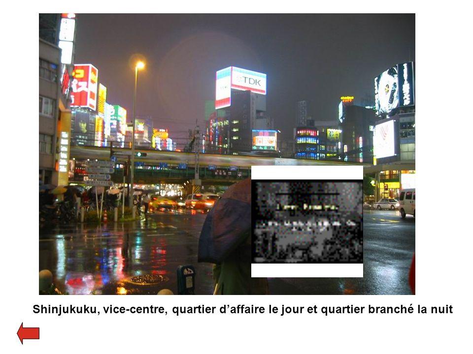 Shinjukuku, vice-centre, quartier daffaire le jour et quartier branché la nuit