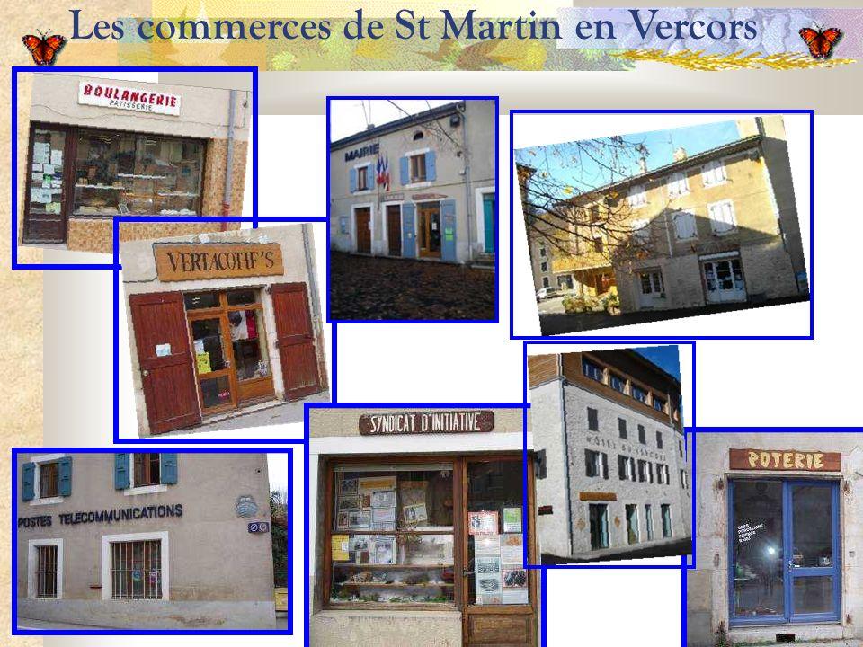 Les commerces de St Martin en Vercors
