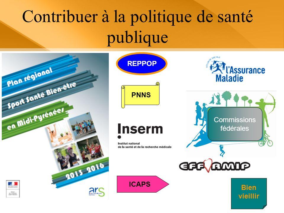 Contribuer à la politique de santé publique REPPOP Commissions fédérales PNNS ICAPS Bien vieillir