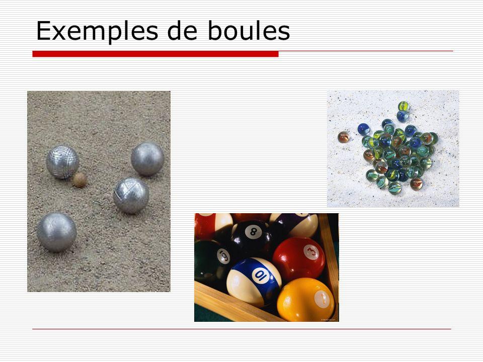 Exemples de boules