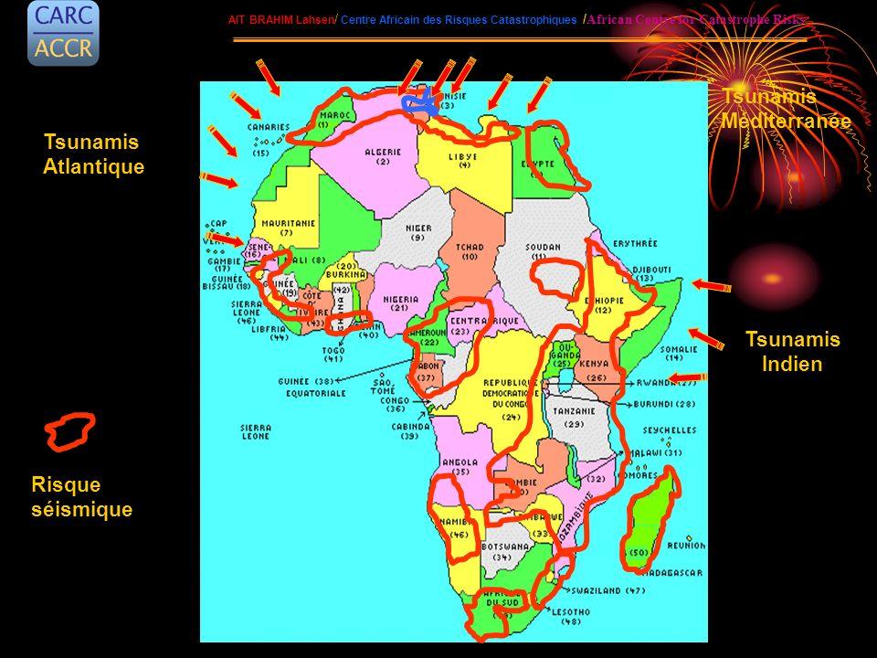 AIT BRAHIM Lahsen / Centre Africain des Risques Catastrophiques / African Centre for Catastrophe Risks Tsunamis Indien Tsunamis Atlantique Tsunamis Mé