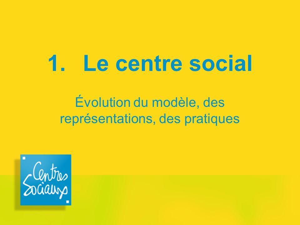 1. Le centre social Évolution du modèle, des représentations, des pratiques