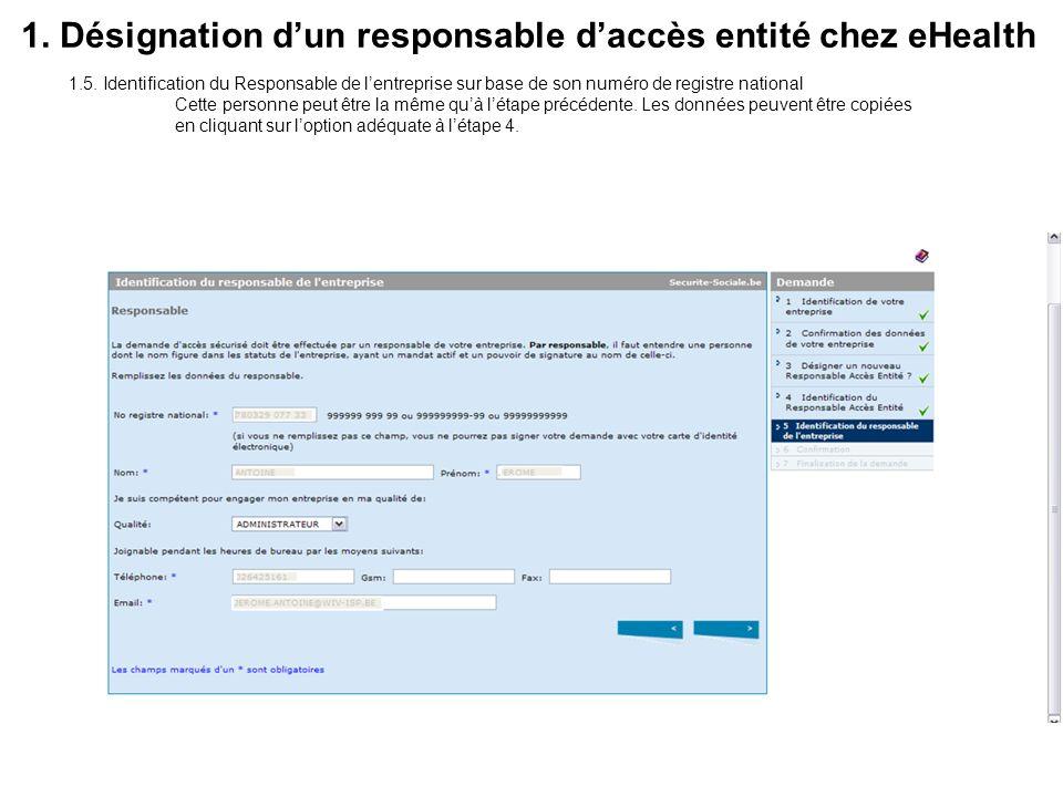 1.6.Vérification et confirmation des données.