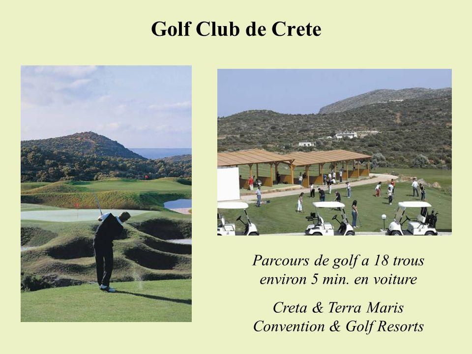Golf Club de Crete Parcours de golf a 18 trous environ 5 min. en voiture Creta & Terra Maris Convention & Golf Resorts