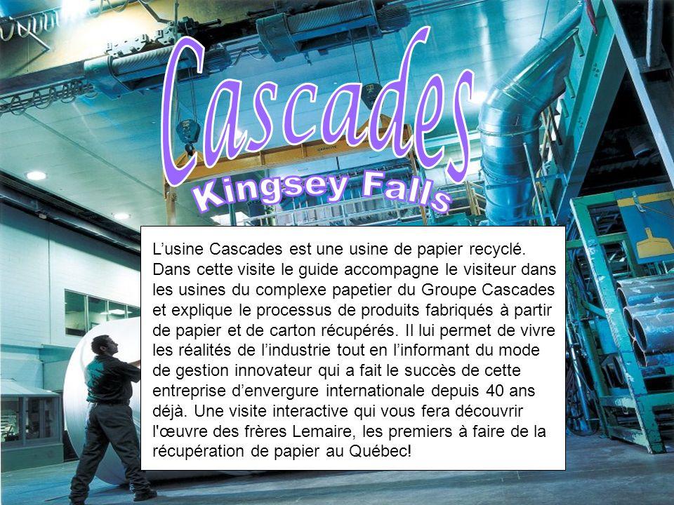 Lusine Cascades est une usine de papier recyclé.
