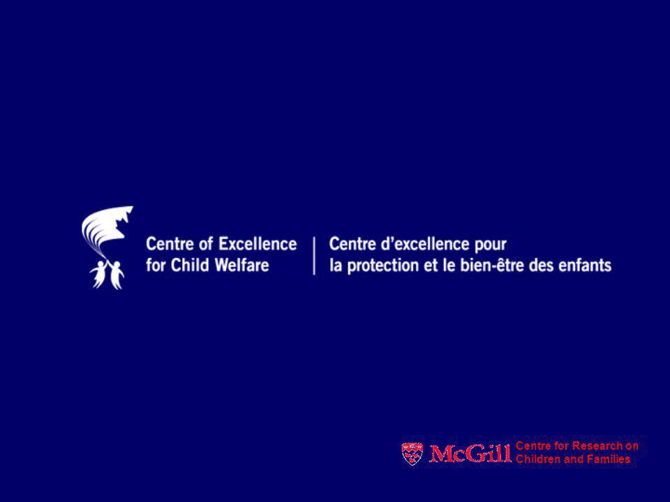 La mobilisation des connaissances dans le domaine de la protection de la jeunesse Mieux comprendre pour mieux servir Nico Trocmé Nico.trocme@mcgill.ca Centre for Research on Children and Families