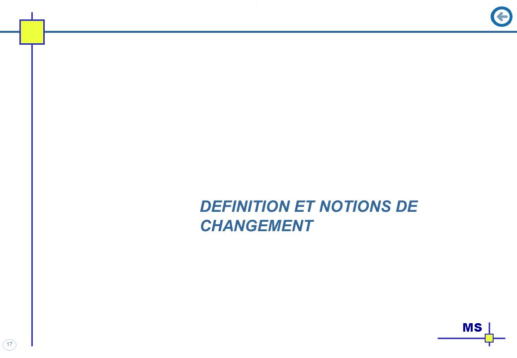 17 DEFINITION ET NOTIONS DE CHANGEMENT MS