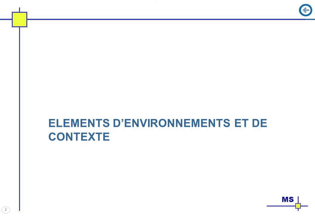 2 ELEMENTS DENVIRONNEMENTS ET DE CONTEXTE MS