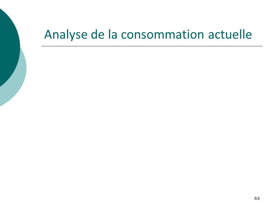 44 Analyse de la consommation actuelle