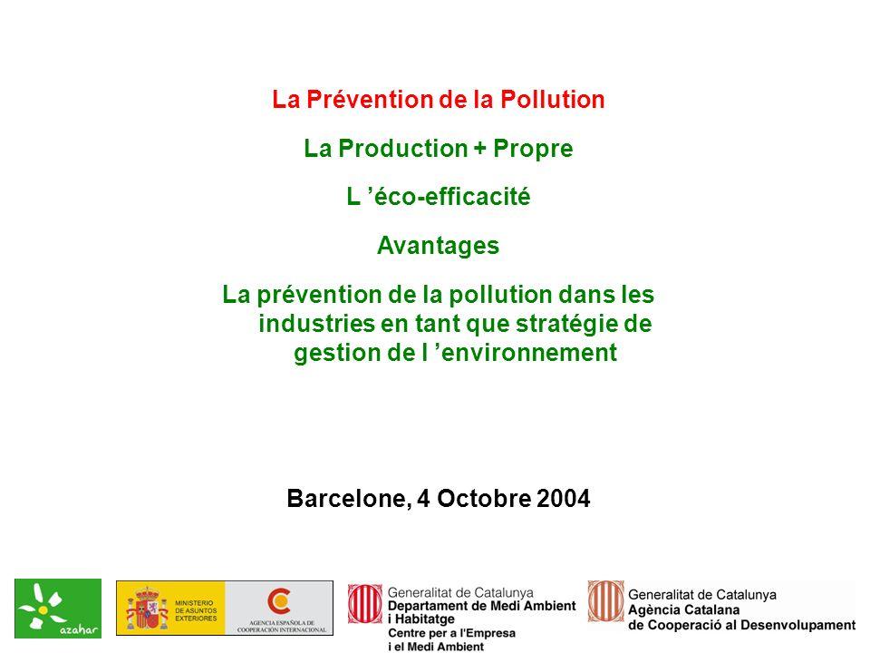 Gouvernement Autonome de la Catalogne Centre pour l Entreprise et l Environnement Comment a évolué lattitude de lentreprise face à lenvironnement.