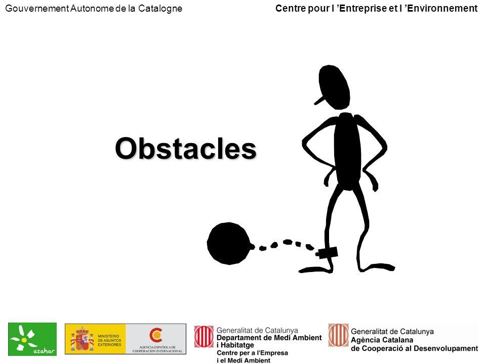 Obstacles Gouvernement Autonome de la Catalogne Centre pour l Entreprise et l Environnement