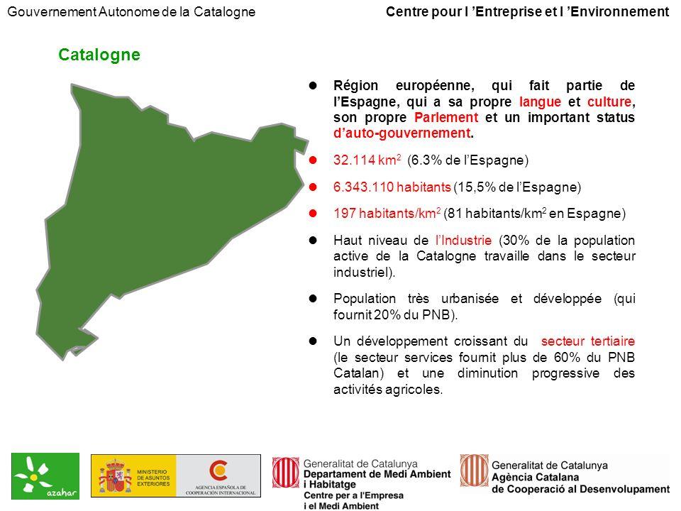 Gouvernement Autonome de la Catalogne Centre pour l Entreprise et l Environnement Dans un paysage en évolution permanente, la gestion de la protection de lenvironnement représente une gestion des opportunités.