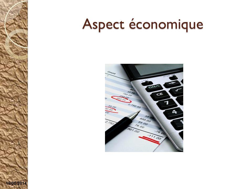 Aspect économique 19/05/2014