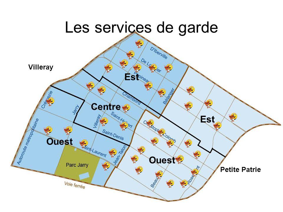 Est Centre Ouest Villeray Petite Patrie Les services de garde