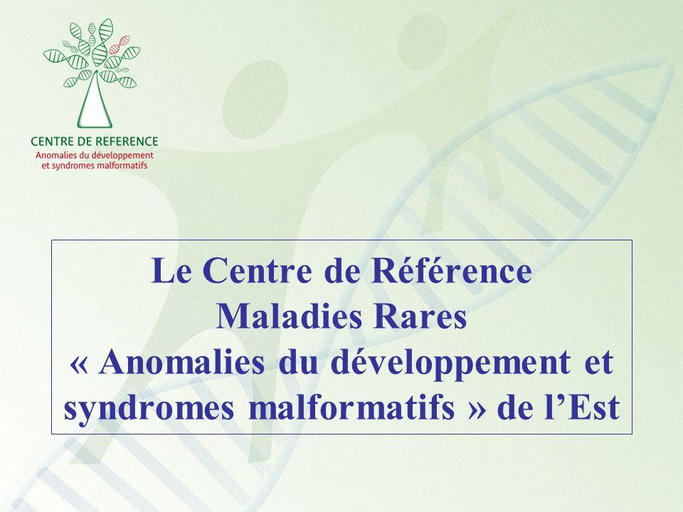 Le Centre de Référence Maladies Rares « Anomalies du développement et syndromes malformatifs » de lEst