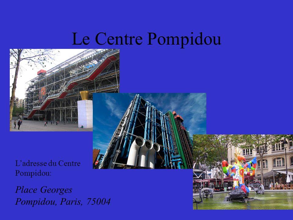 Le Centre Pompidou Le Louvre Prenez le métro à la station Rambuteau dans la ligne onze (brun) Descendez à la station Hôtel de Ville.