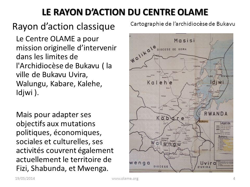 LE RAYON DACTION DU CENTRE OLAME Rayon daction classique Le Centre OLAME a pour mission originelle dintervenir dans les limites de l'Archidiocèse de B