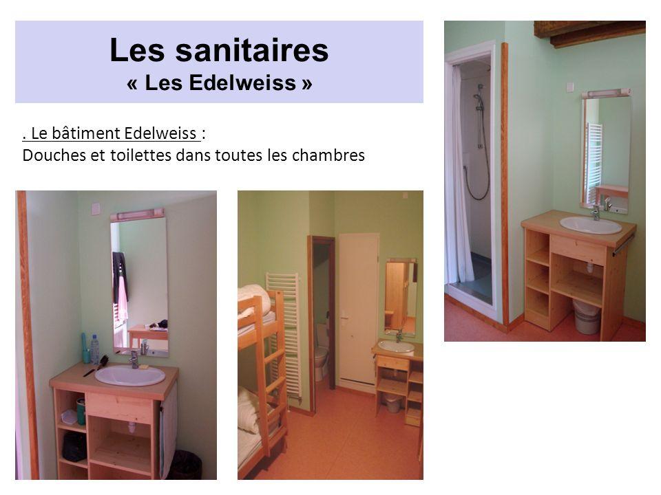 . Le bâtiment Edelweiss : Douches et toilettes dans toutes les chambres Les sanitaires « Les Edelweiss »