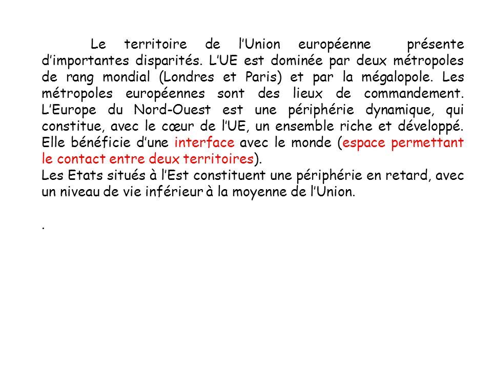 Le territoire de lUnion européenne présente dimportantes disparités.