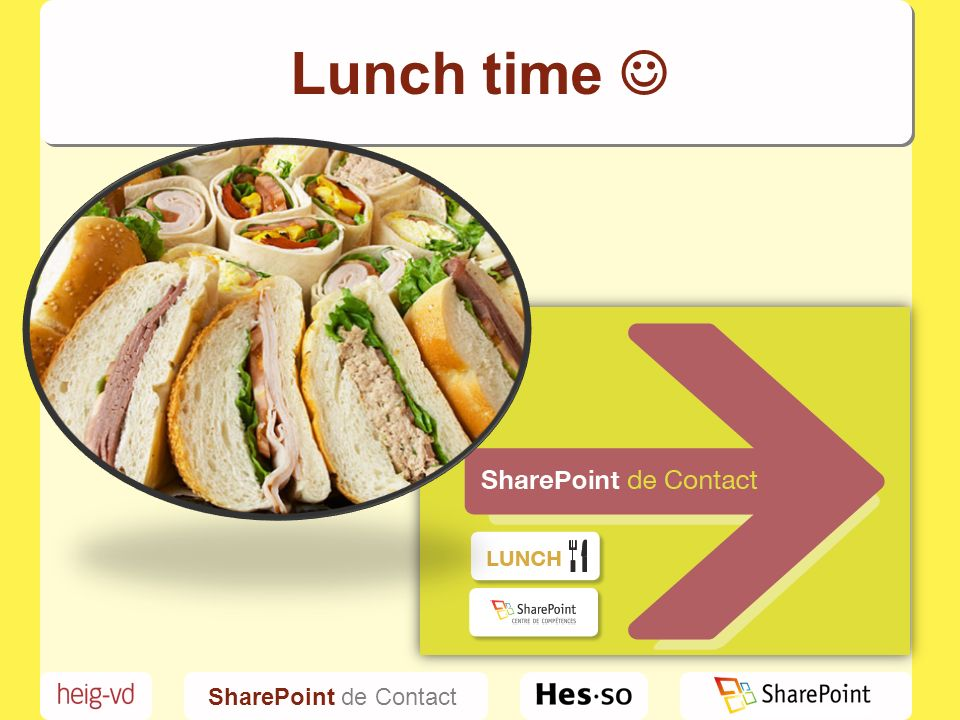SharePoint de Contact Lunch time