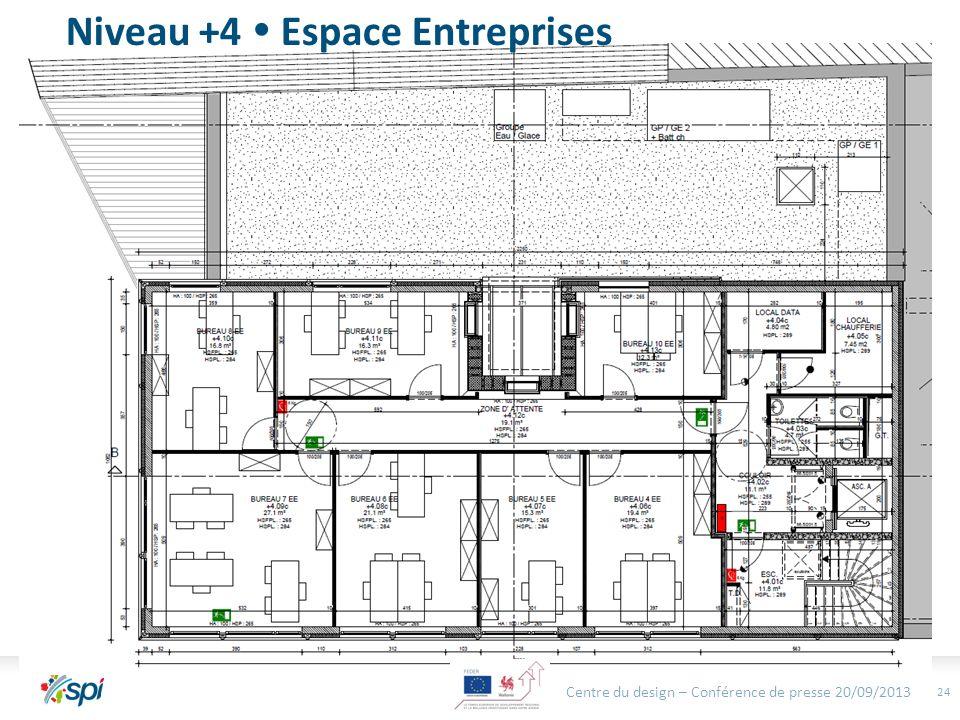 24 Niveau +4 Espace Entreprises Centre du design – Conférence de presse 20/09/2013