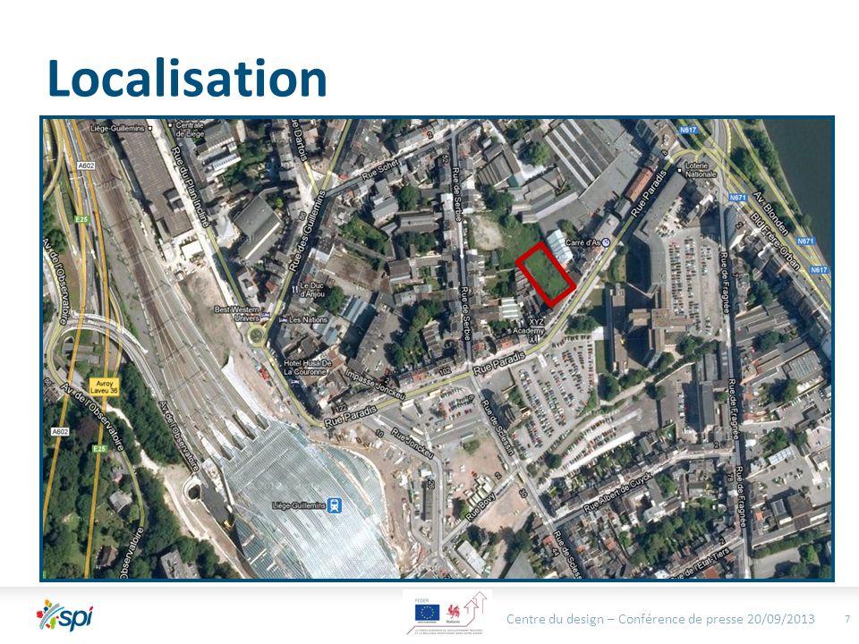 Localisation 8 Centre du design – Bureau Exécutif - 130913