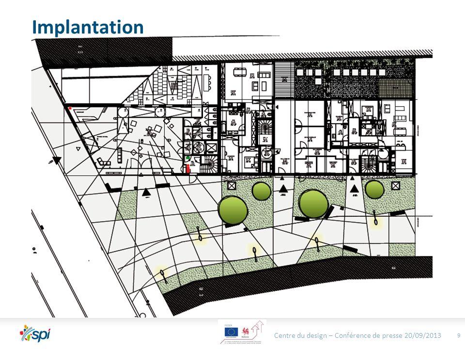 10 Abords * Centre du design – Conférence de presse 20/09/2013 *Exemple daménagements possibles