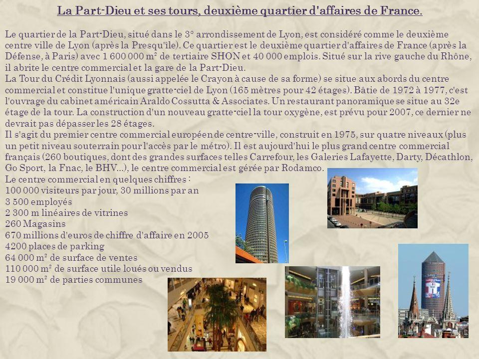La Part-Dieu et ses tours, deuxième quartier d affaires de France.