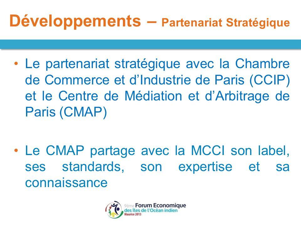 Le partenariat stratégique avec la Chambre de Commerce et dIndustrie de Paris (CCIP) et le Centre de Médiation et dArbitrage de Paris (CMAP) Le CMAP p