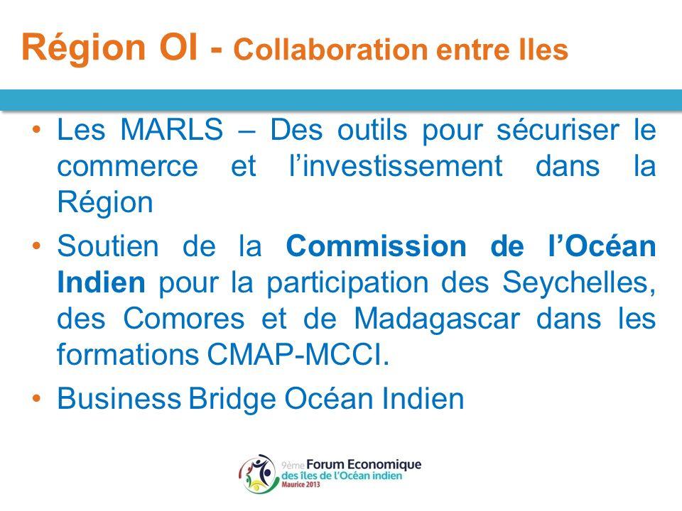 Les MARLS – Des outils pour sécuriser le commerce et linvestissement dans la Région Soutien de la Commission de lOcéan Indien pour la participation de