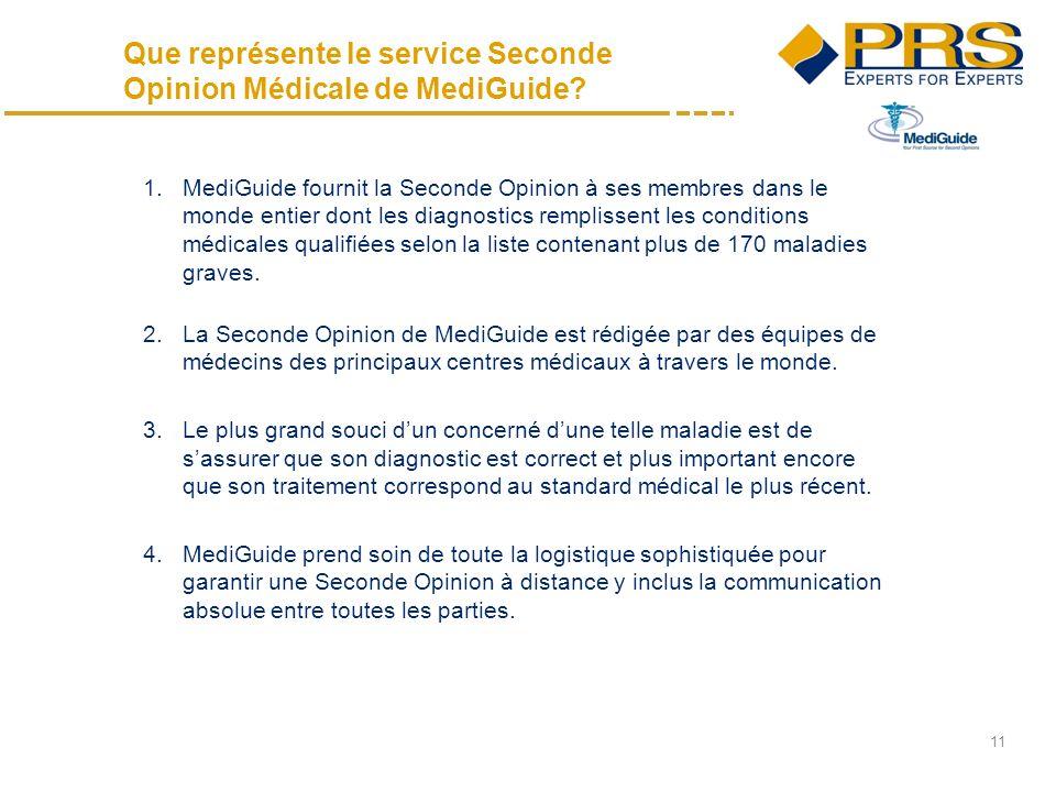 11 Que représente le service Seconde Opinion Médicale de MediGuide.