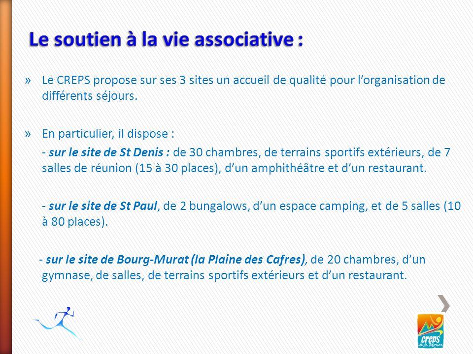 » Le CREPS propose sur ses 3 sites un accueil de qualité pour lorganisation de différents séjours.