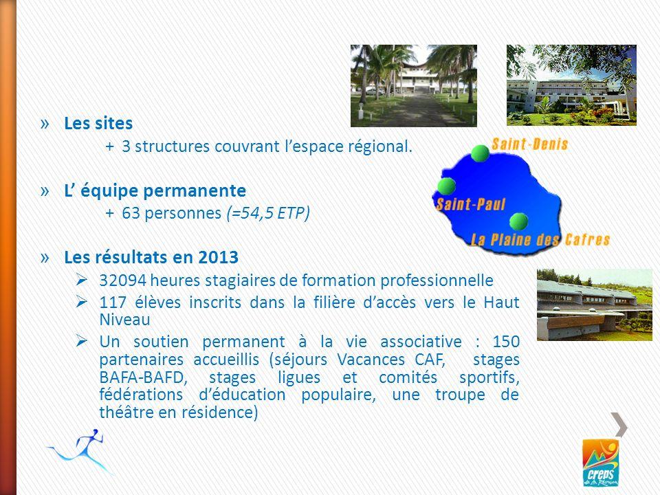 » Les sites +3 structures couvrant lespace régional.