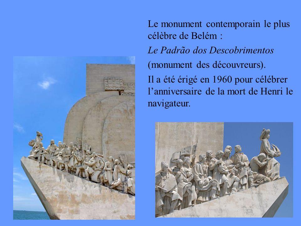 Le monument contemporain le plus célèbre de Belém : Le Padrão dos Descobrimentos (monument des découvreurs).