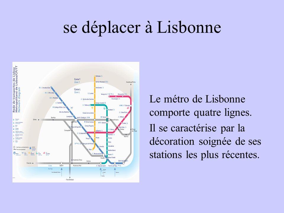 se déplacer à Lisbonne Le métro de Lisbonne comporte quatre lignes.