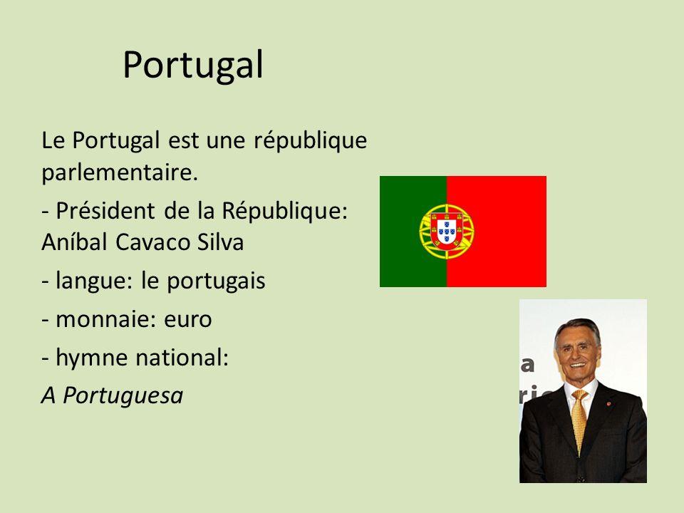 Portugal Le Portugal est une république parlementaire.