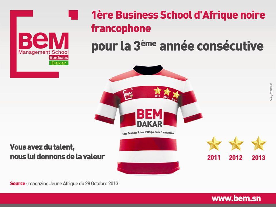 BEM Dakar, meilleure Business School dAfrique noire francophone