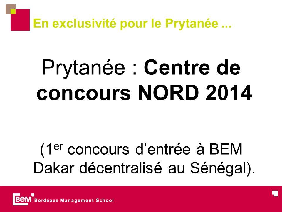 En exclusivité pour le Prytanée... Prytanée : Centre de concours NORD 2014 (1 er concours dentrée à BEM Dakar décentralisé au Sénégal).