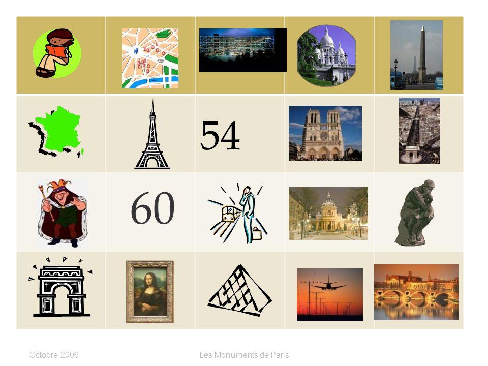 LOrly ou Le Métro ? Cest _______________. Octobre 2006Les Monuments de Paris