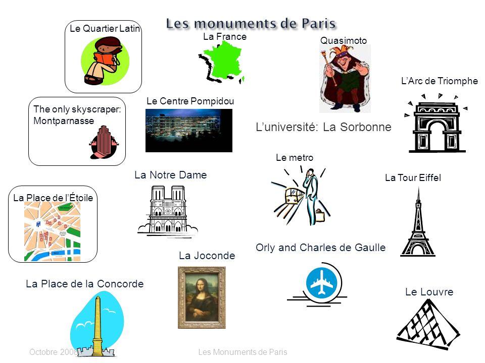 Le Métro ou Le Louvre? Cest _______________. Octobre 2006Les Monuments de Paris