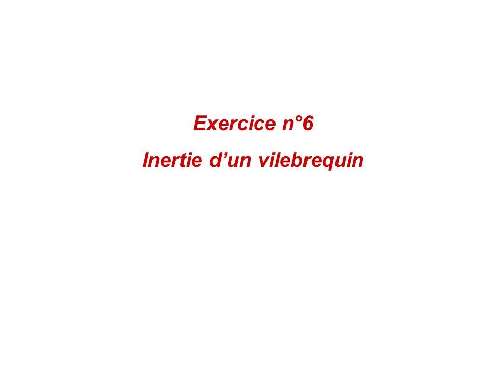Exercice n°6 Inertie dun vilebrequin