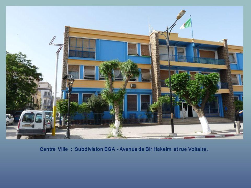 Centre Ville : Subdivision EGA - Avenue de Bir Hakeim.