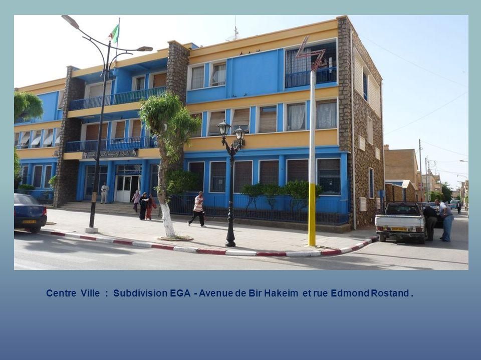 Centre Ville : Subdivision EGA - Avenue de Bir Hakeim et rue Voltaire.